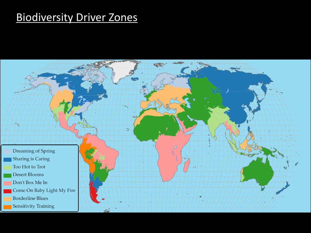 Biodiversity Driver Zones