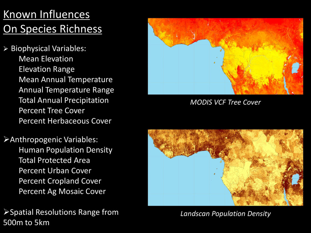 Known Influences On Species Richness  Biophysi...