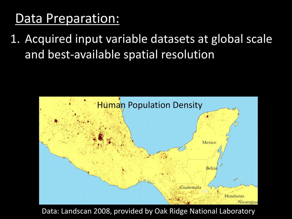 Data Preparation: 1. Acquired input variable da...