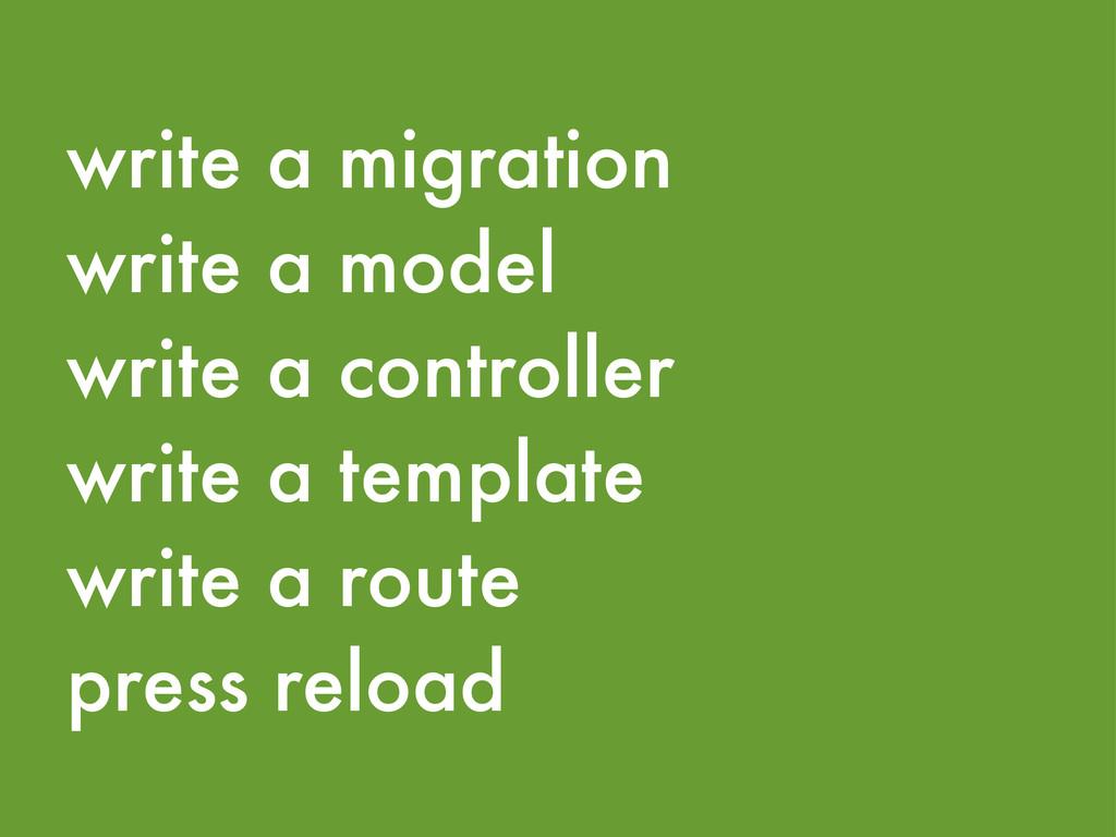 write a migration write a model write a control...