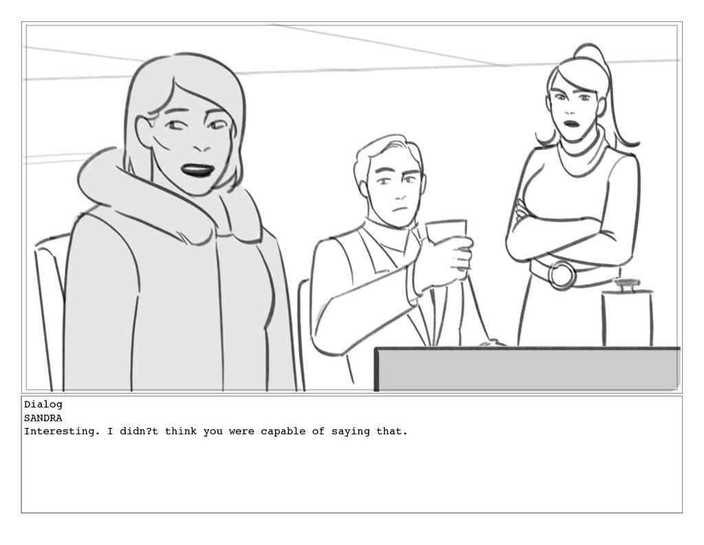 Dialog SANDRA Interesting. I didn?t think you w...