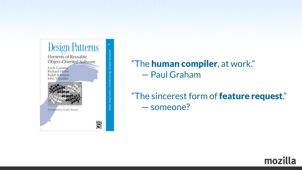 """The human compiler, at work."" 