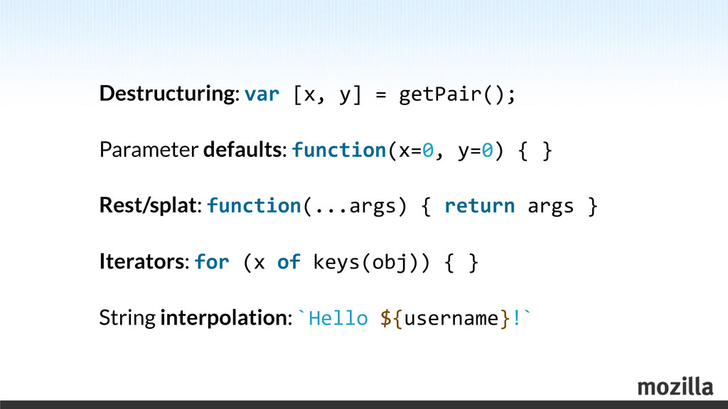 Destructuring: var	