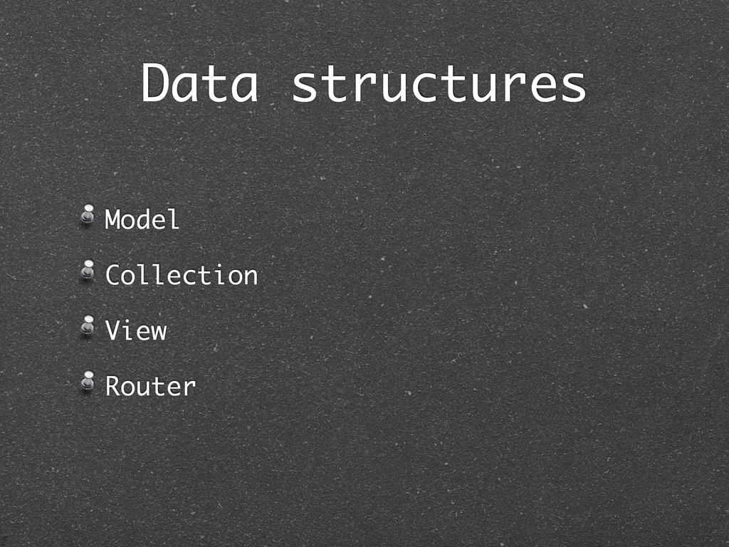Model Collection View Router Data structures
