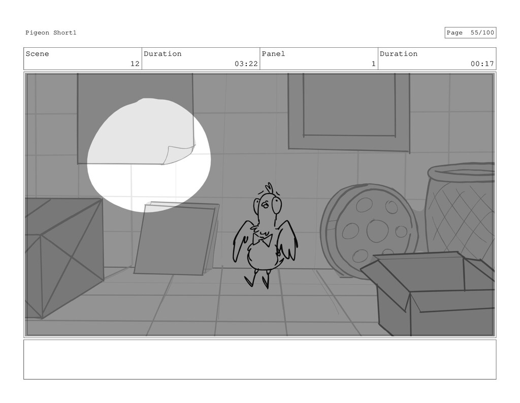 Scene 12 Duration 03:22 Panel 1 Duration 00:17 ...
