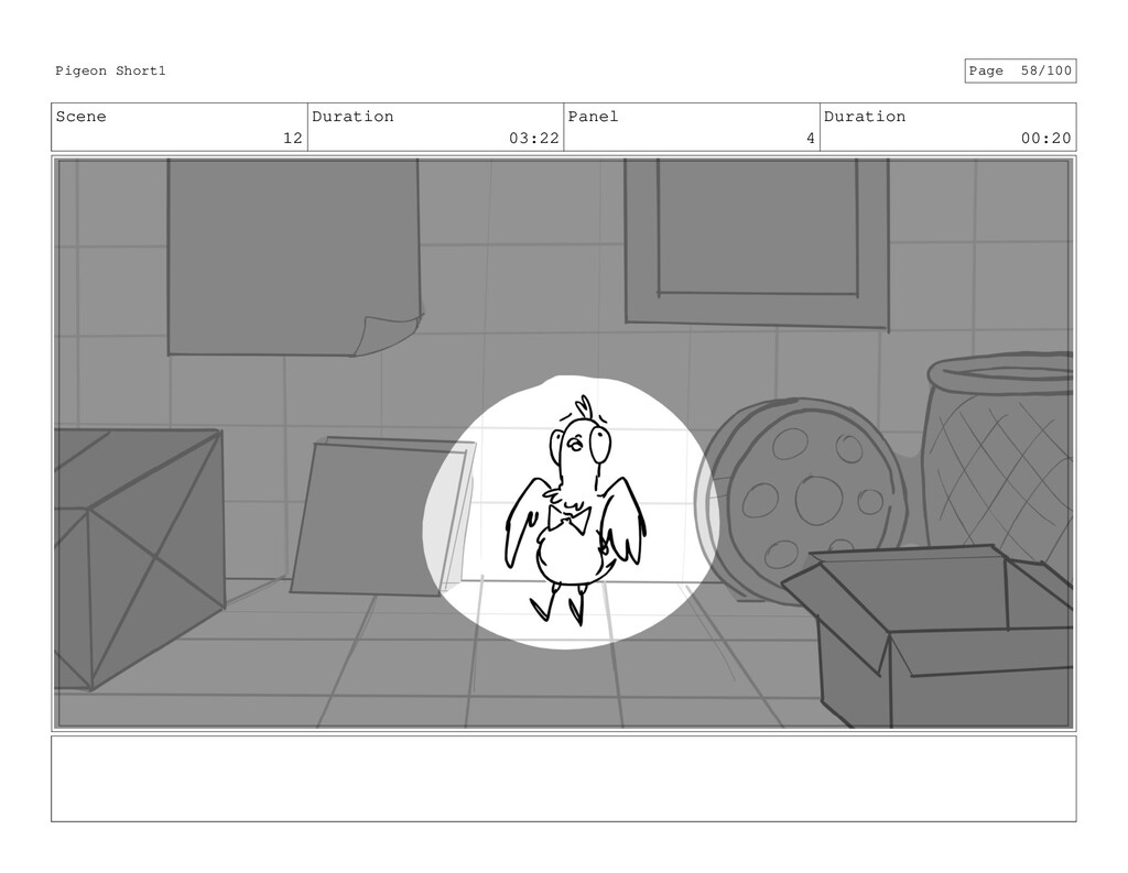 Scene 12 Duration 03:22 Panel 4 Duration 00:20 ...