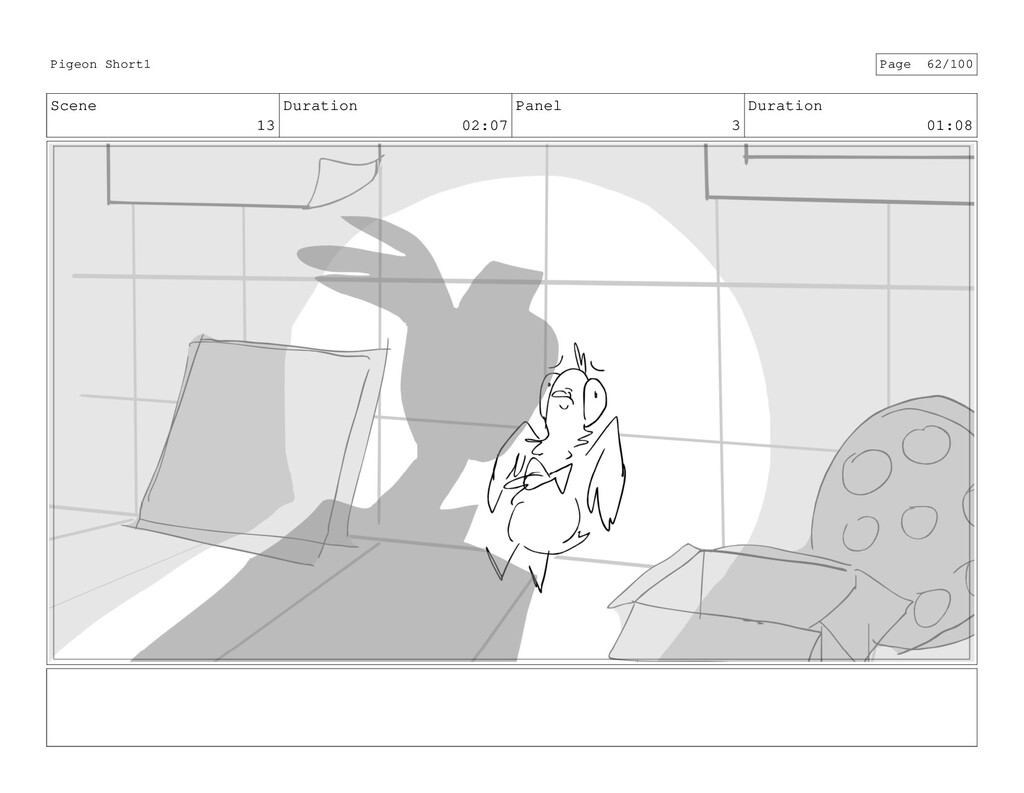 Scene 13 Duration 02:07 Panel 3 Duration 01:08 ...