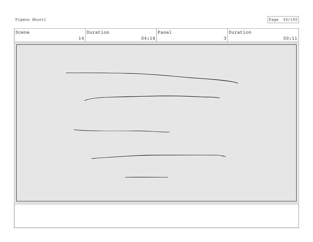 Scene 14 Duration 04:18 Panel 3 Duration 00:11 ...