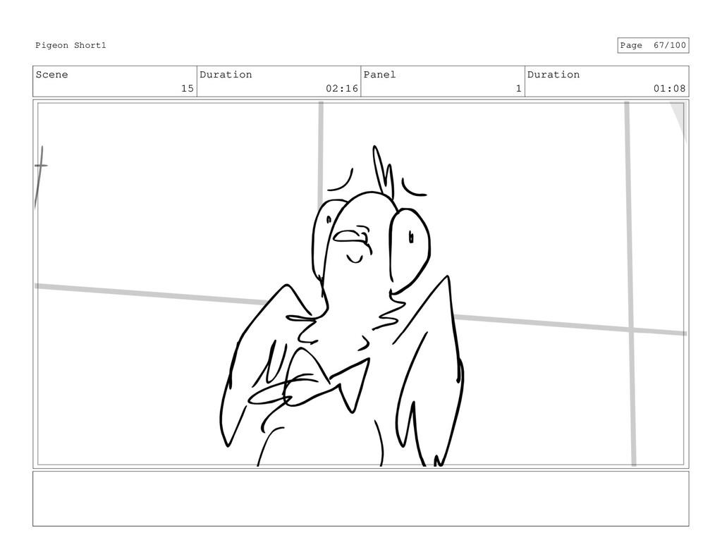 Scene 15 Duration 02:16 Panel 1 Duration 01:08 ...