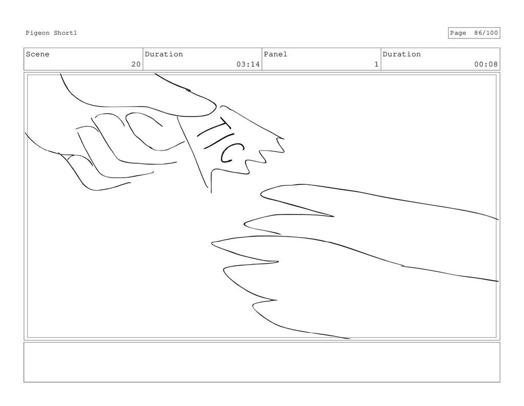 Scene 20 Duration 03:14 Panel 1 Duration 00:08 ...