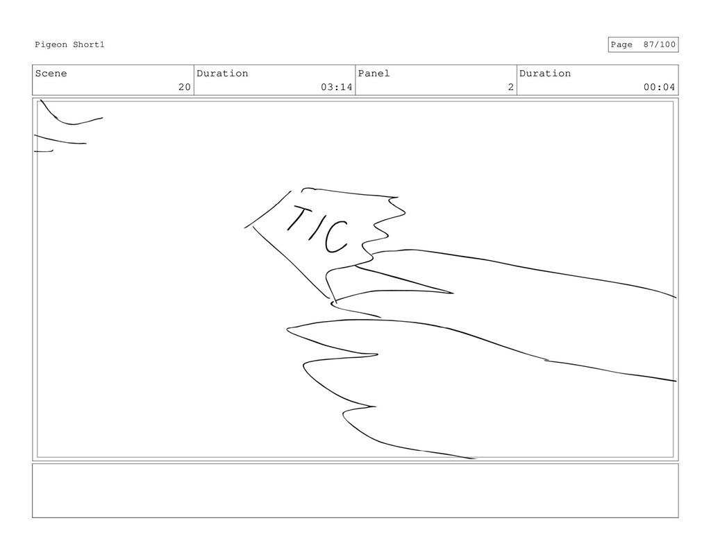 Scene 20 Duration 03:14 Panel 2 Duration 00:04 ...