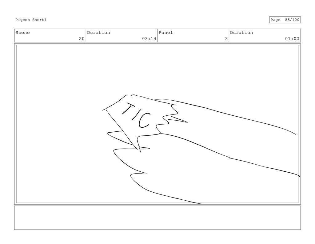 Scene 20 Duration 03:14 Panel 3 Duration 01:02 ...