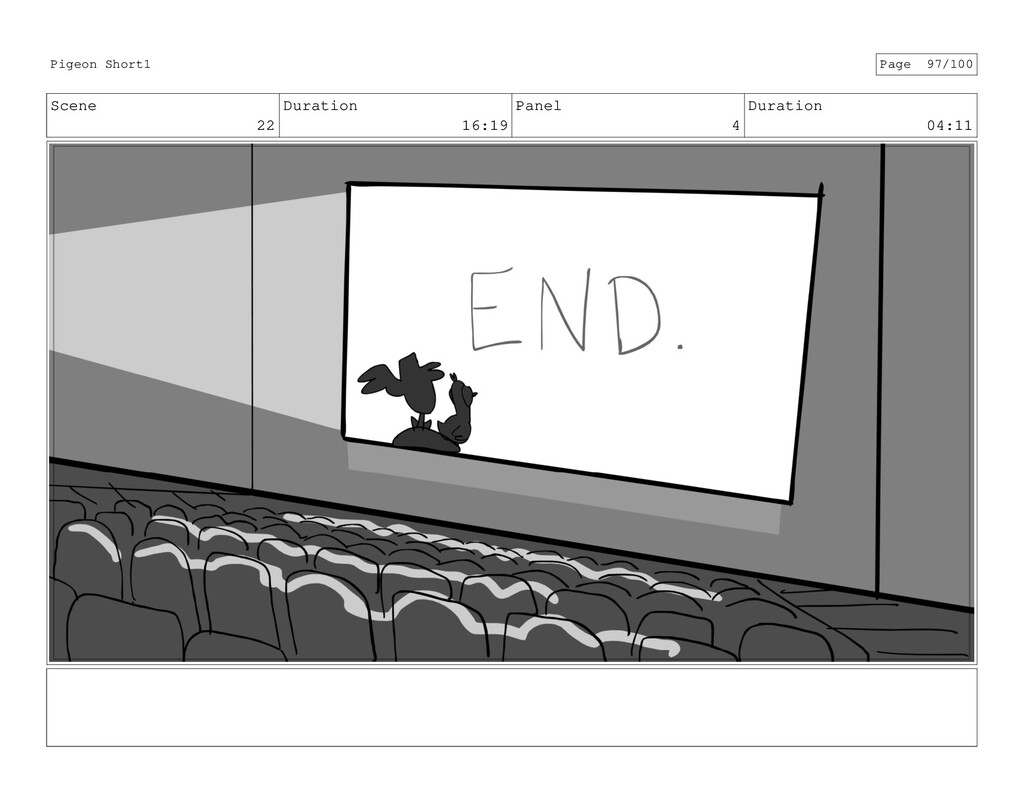 Scene 22 Duration 16:19 Panel 4 Duration 04:11 ...
