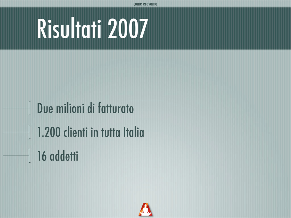 Risultati 2007 Due milioni di fatturato 1.200 c...