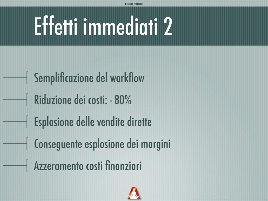 Effetti immediati 2 Semplificazione del workflow ...