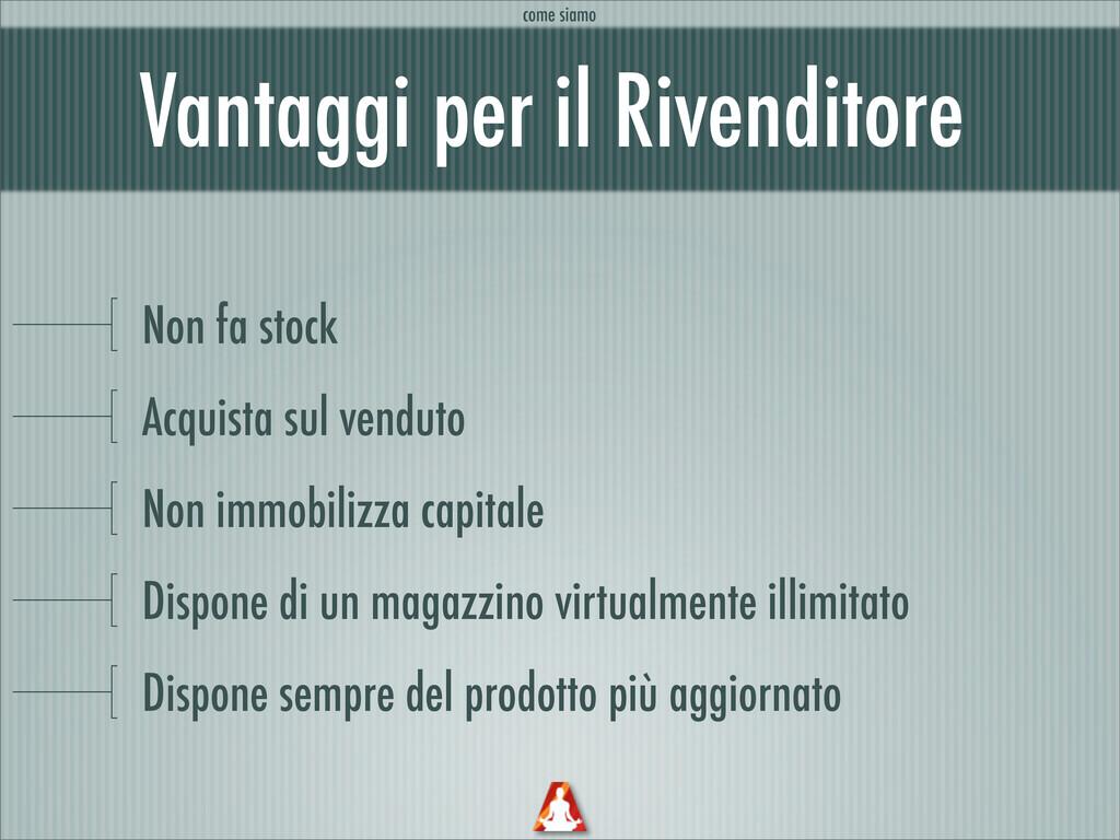 Vantaggi per il Rivenditore Non fa stock Acquis...