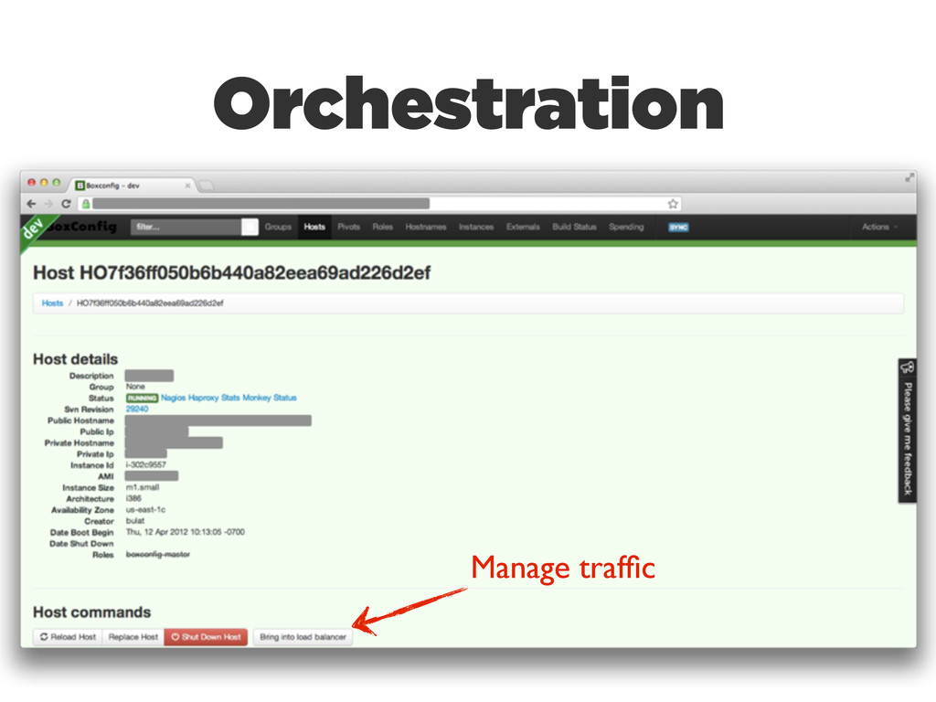 Manage traffic Orchestration