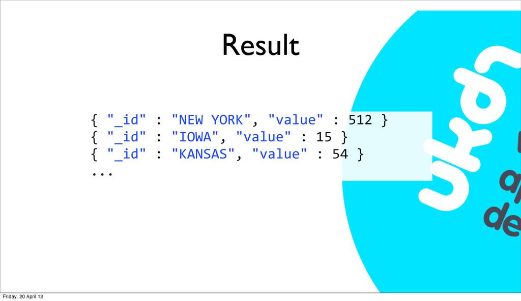 "Result { ""_id"" : ""NEW YORK"", ""va..."