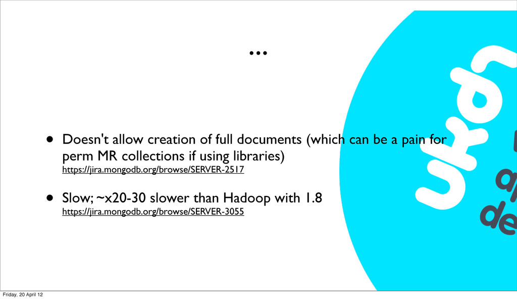 ... • Doesn't allow creation of full documents ...