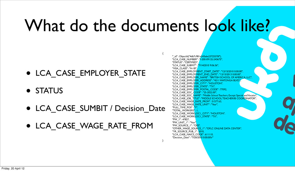 What do the documents look like? • LCA_CASE_EMP...