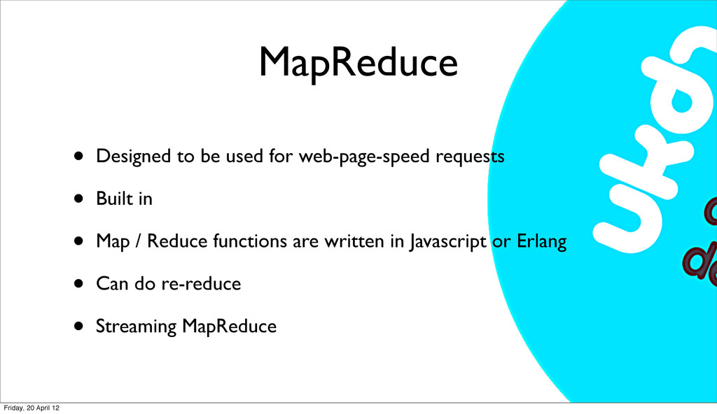 MapReduce • Designed to be used for web-page-sp...