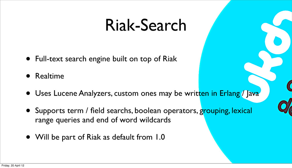 Riak-Search • Full-text search engine built on ...