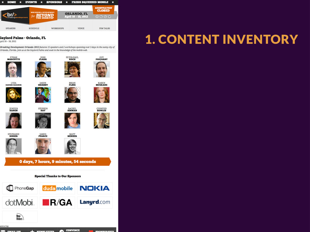 1. CONTENT INVENTORY