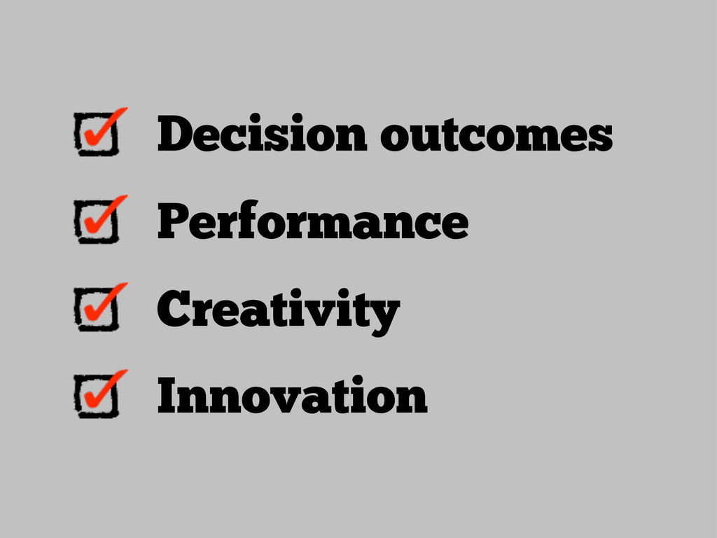 Decision outcomes Performance Creativity Innova...