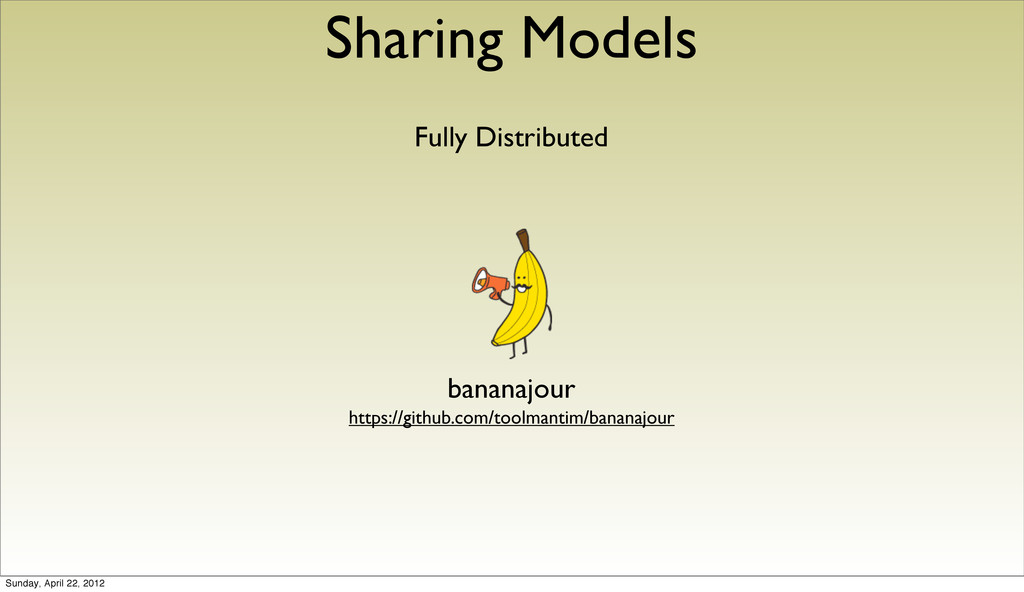 Sharing Models Fully Distributed bananajour htt...