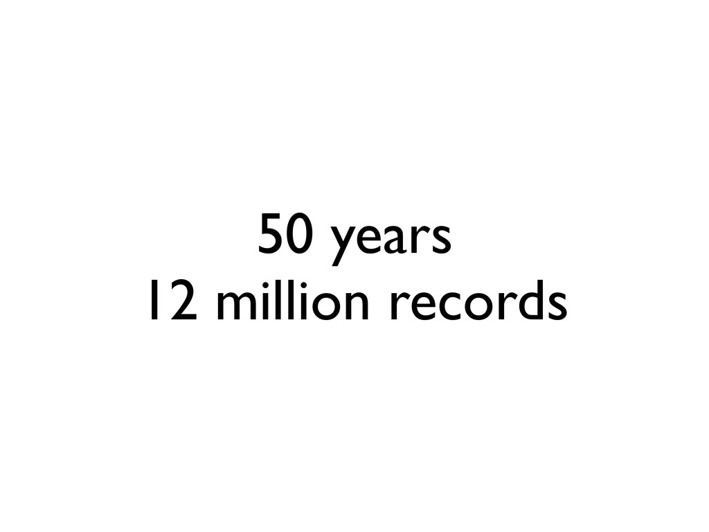 50 years 12 million records