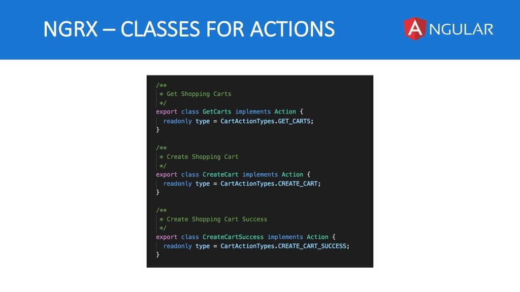 NGRX – CLASSES FOR ACTIONS
