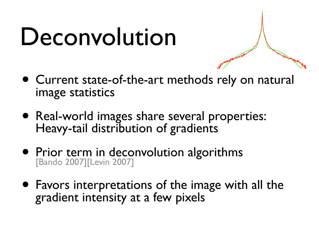 Deconvolution • Current state-of-the-art method...