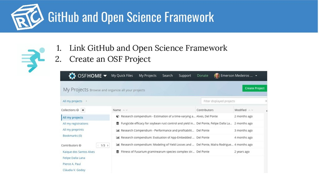 GitHub and Open Science Framework 1. Link GitHu...