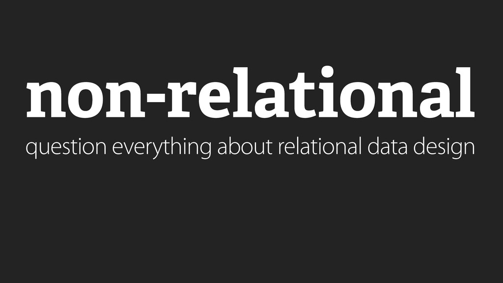 question everything about relational data desig...