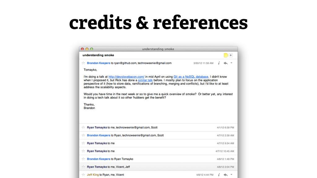 credits & references