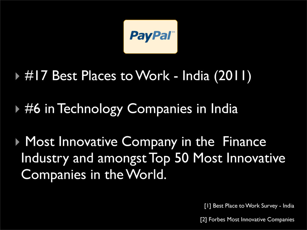 ‣ #17 Best Places to Work - India (2011) ‣ #6 i...