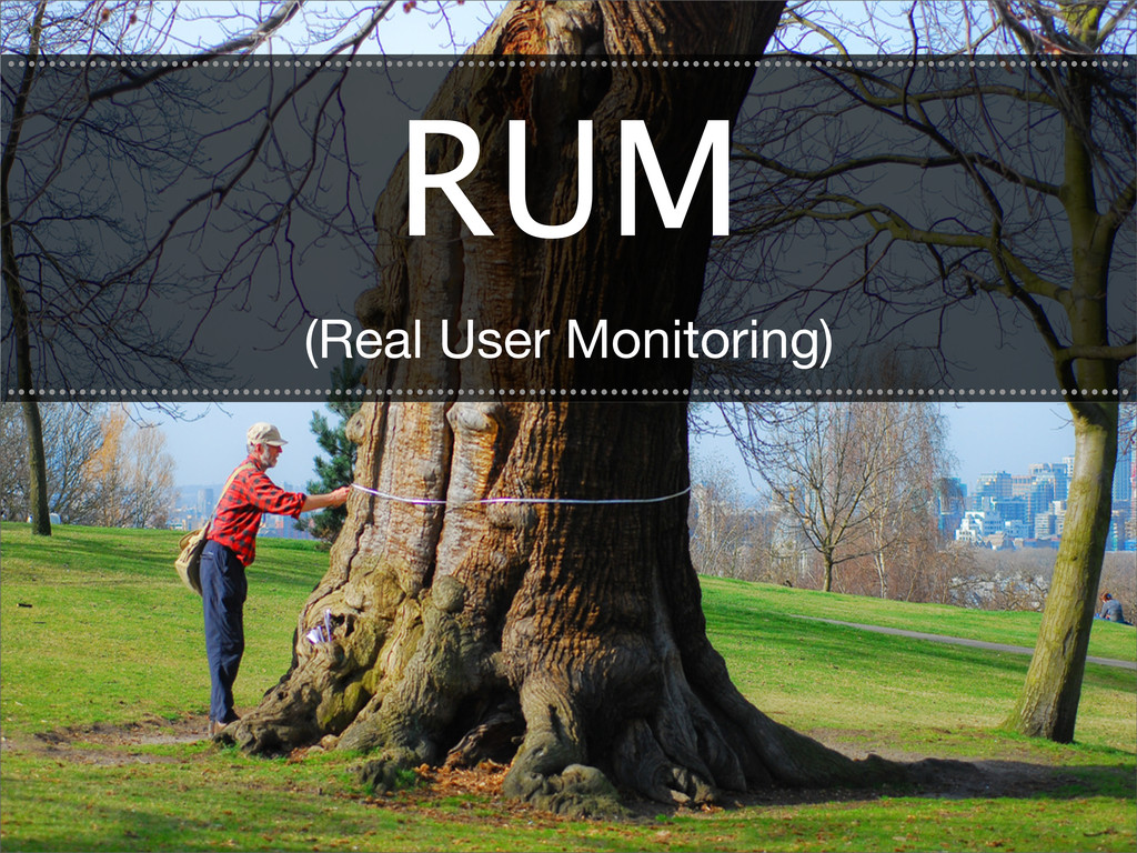 RUM (Real User Monitoring) .......................