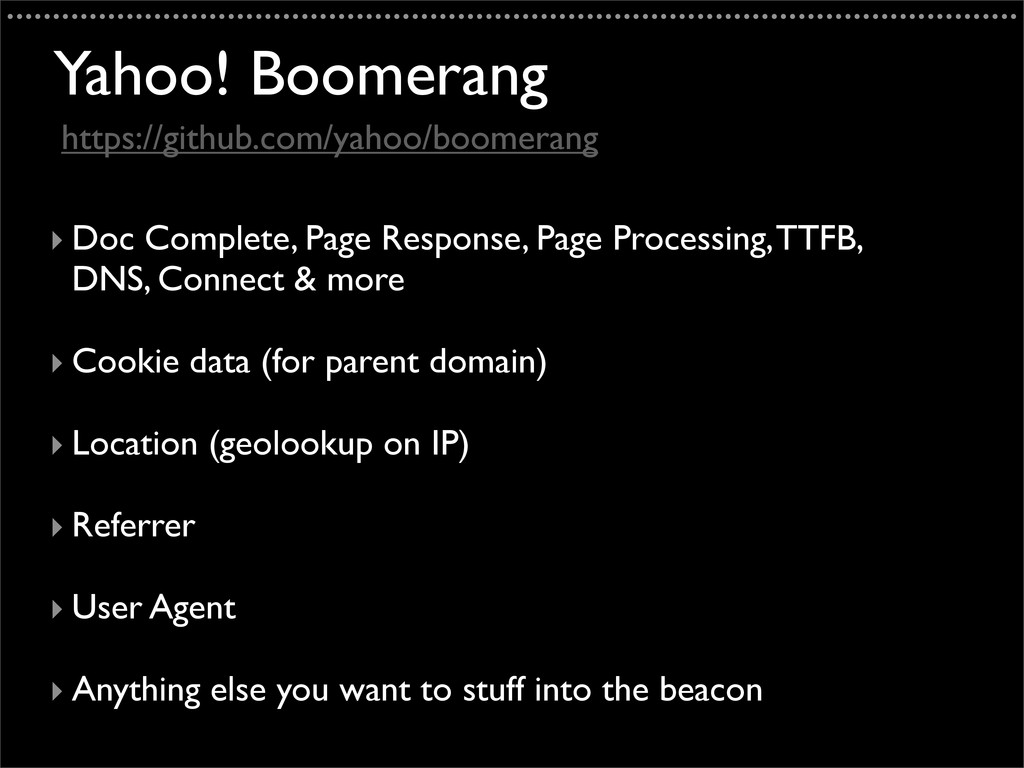 Yahoo! Boomerang ‣ Doc Complete, Page Response,...