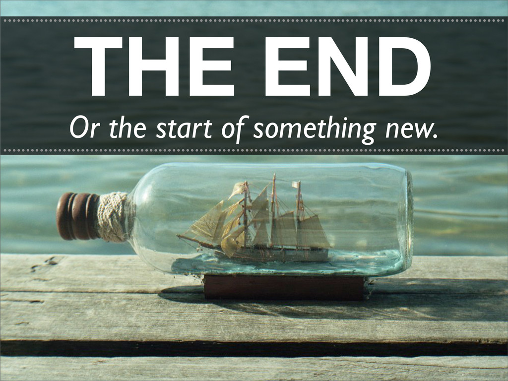 THE END ..........................................