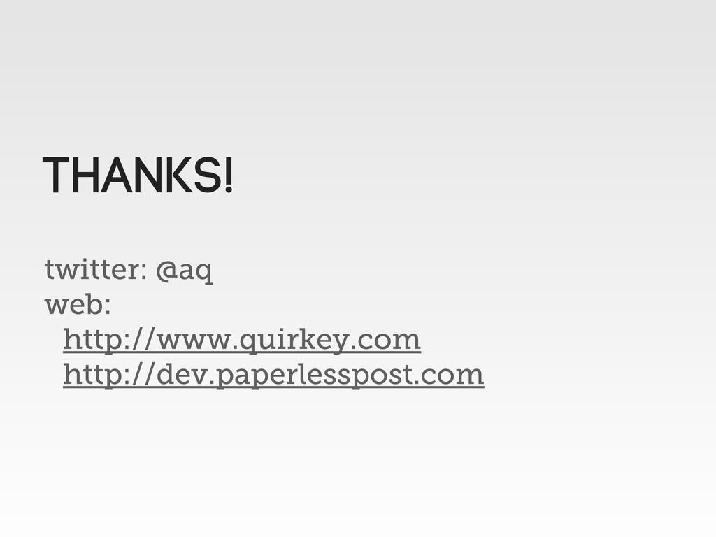 twitter: @aq web: http://www.quirkey.com http:/...