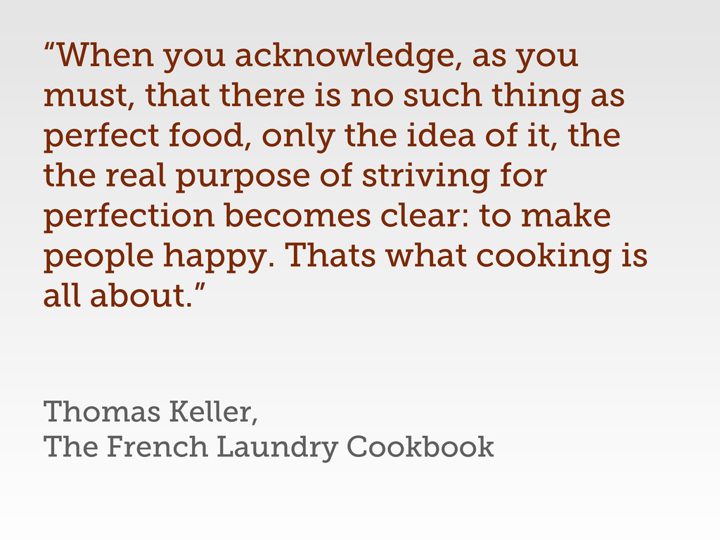 "Thomas Keller, The French Laundry Cookbook ""Whe..."
