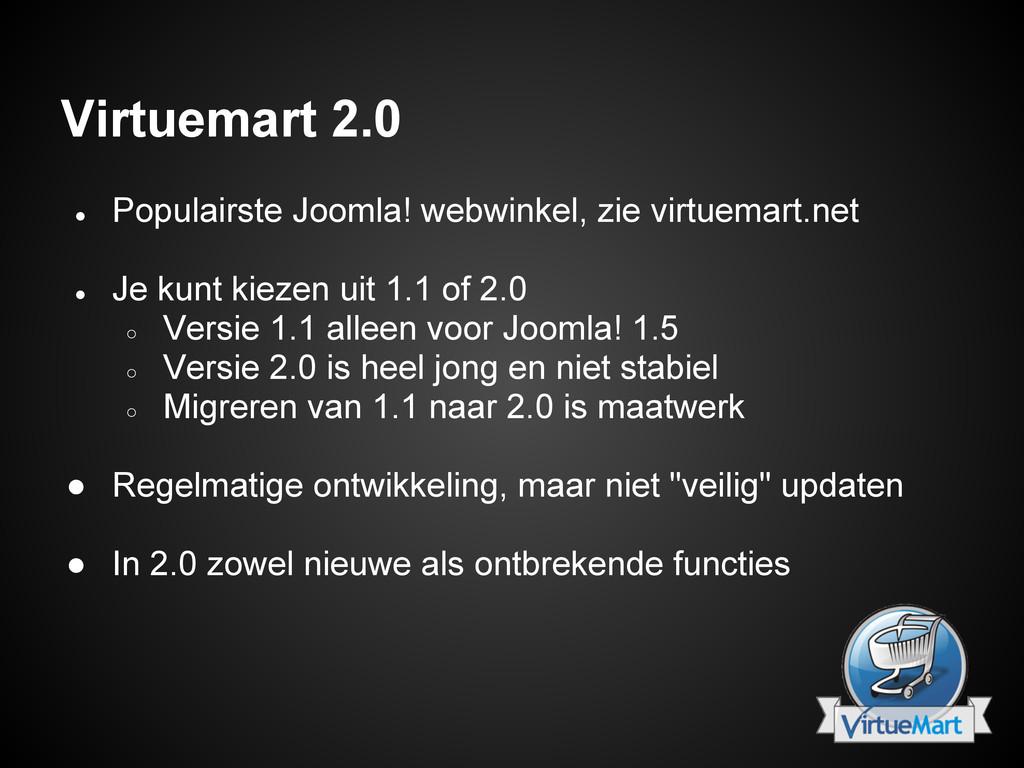 Virtuemart 2.0 ● Populairste Joomla! webwinkel,...