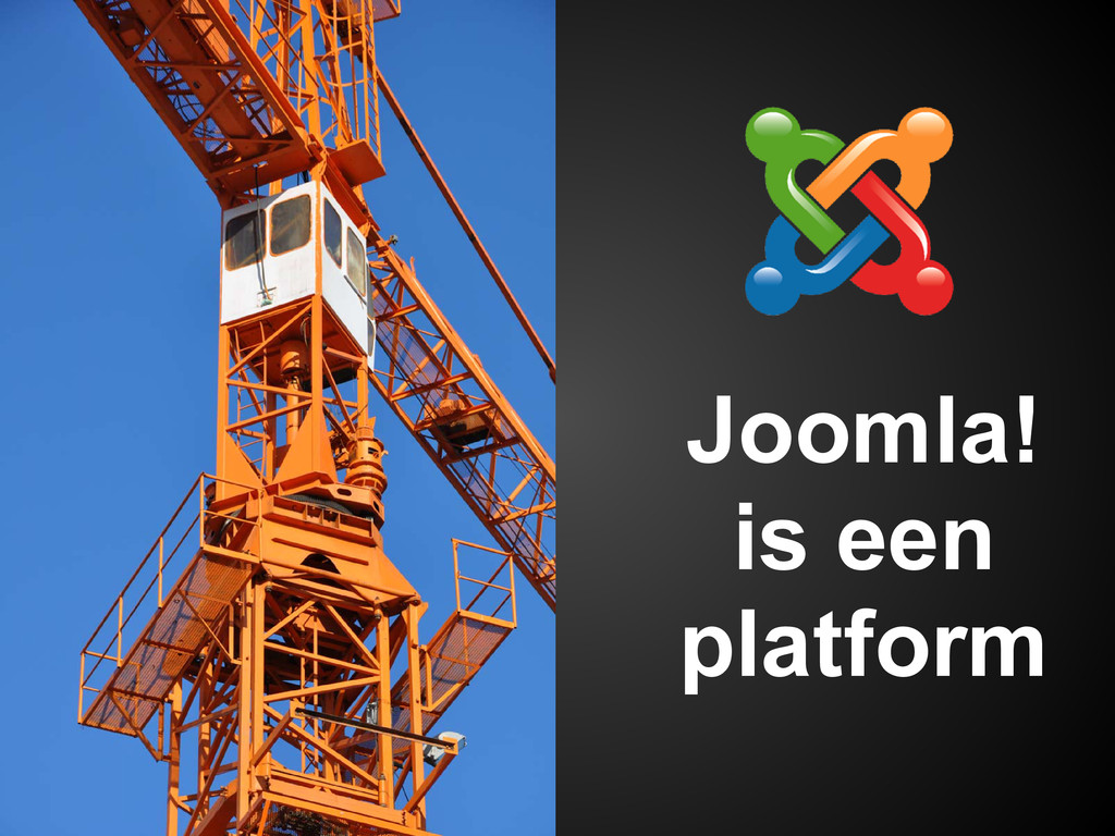 Joomla! is een platform