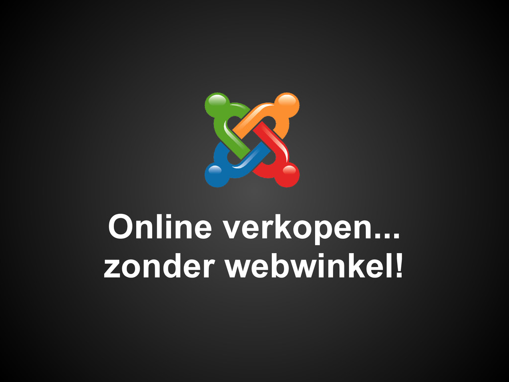 Online verkopen... zonder webwinkel!
