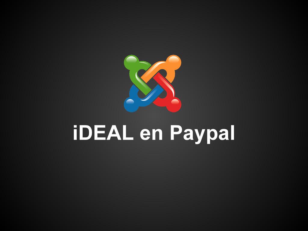 iDEAL en Paypal