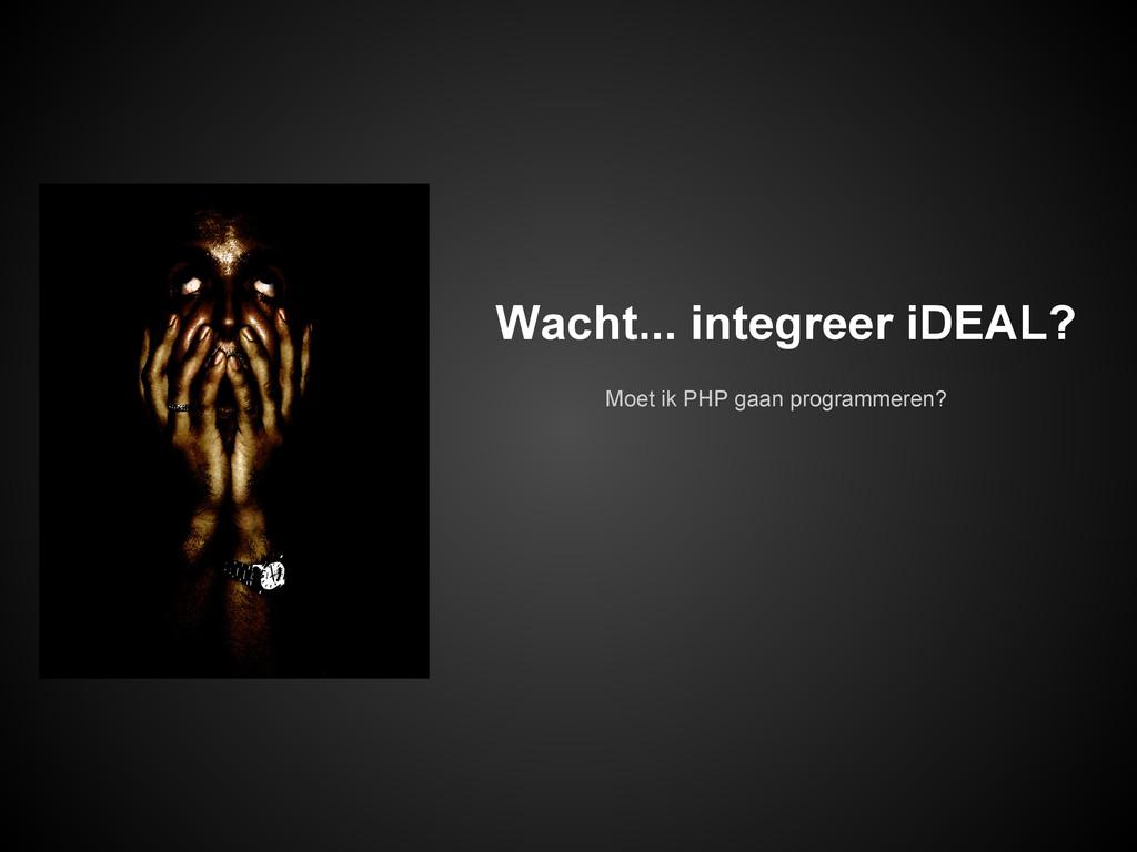Moet ik PHP gaan programmeren? Wacht... integre...