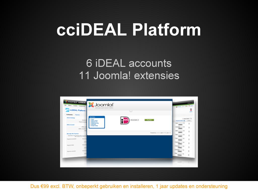 6 iDEAL accounts 11 Joomla! extensies cciDEAL P...