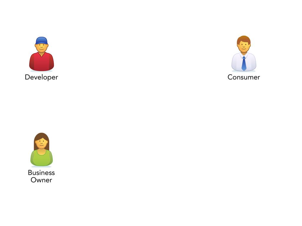 Developer Consumer Business Owner
