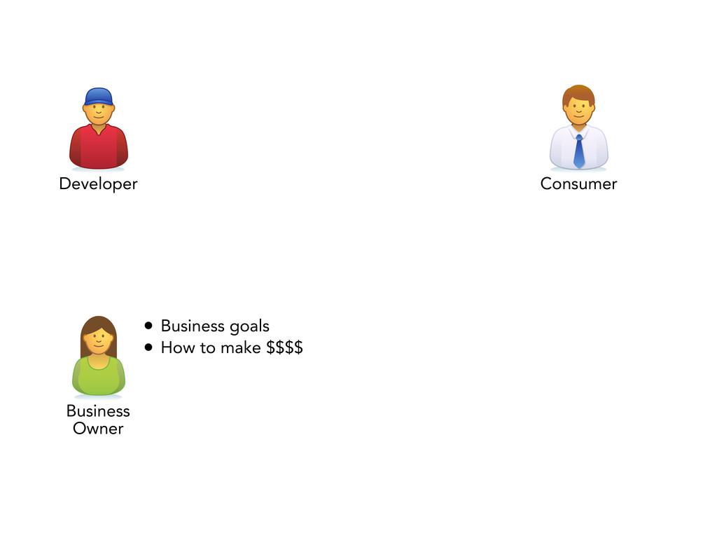 Developer Consumer Business Owner • Business go...