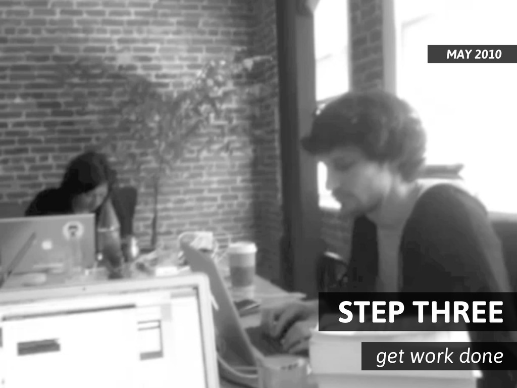 STEP THREE get work done MAY 2010